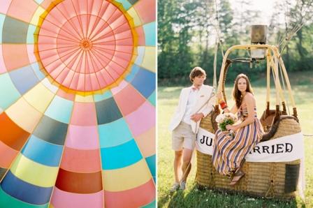 Необычные свадьбы: свадьба на воздушном шаре