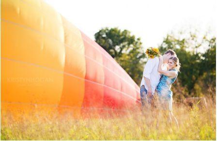 Свадьба в небе на воздушном шаре