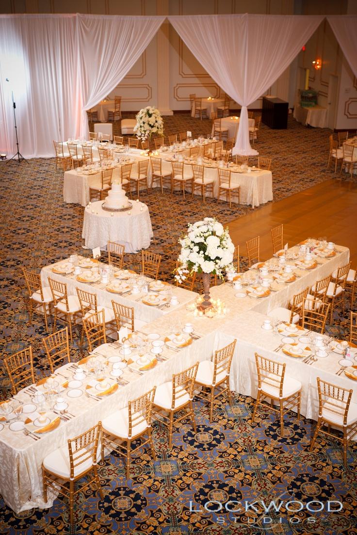 Т образный стол на свадьбу 74
