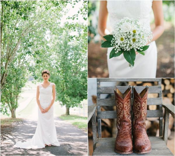 Наряд невесты для свадьбы в стиле рустик