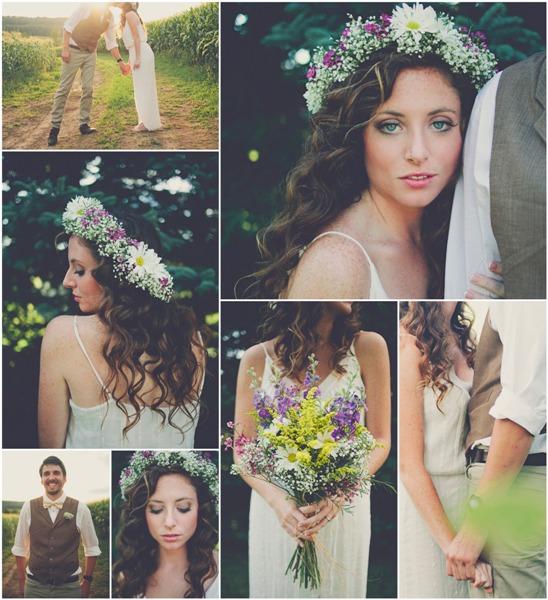 Свадебный букет для свадьбы в стиле рустик