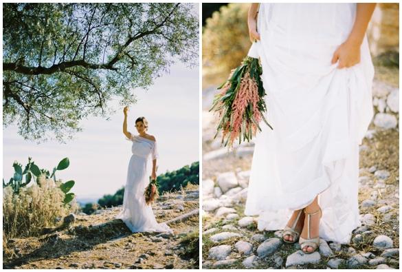 Наряд невесты для свадьбы в стиле Прованс