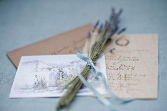 Как оформить приглашению на свадьбу в стиле прованс