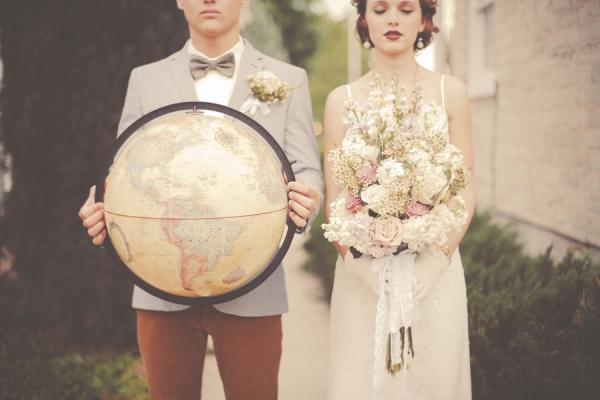 Образ невесты на свадьбу в стиле путешествия