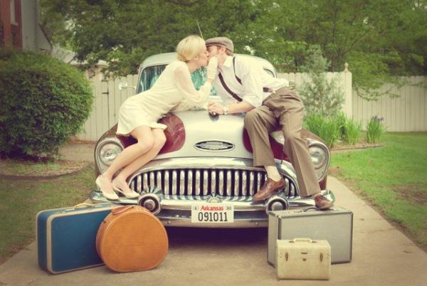 Лимузин для свадьбы в стиле путешествия