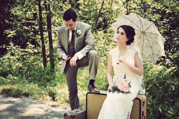 Свадьба в стиле путешествия: свадебное платье