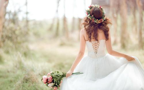 Невеста в предсвадебное утро