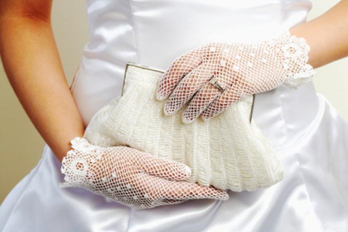Свадебные перчатки как подобрать к платью