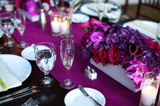 Фуксия как цвет свадебного оформления