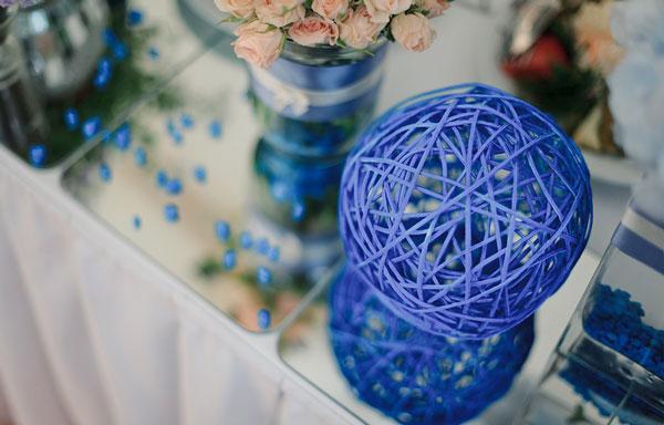 Свадьба в синем: сдержанная, царственная сказка!