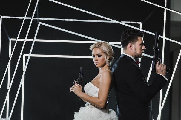 Стильная и необычная свадьба в стиле Джеймса Бонда