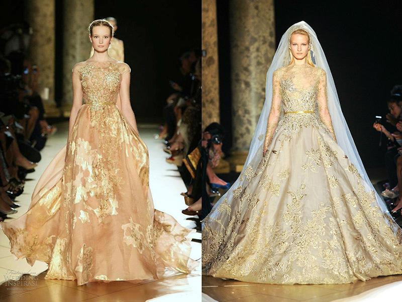 Невеста и её золотое платье: секреты красоты