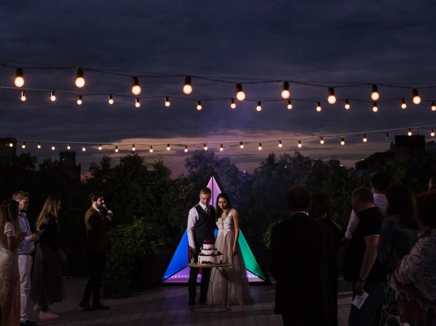 Свадьба Дмитрия и Виктории в «Зимнем саду»