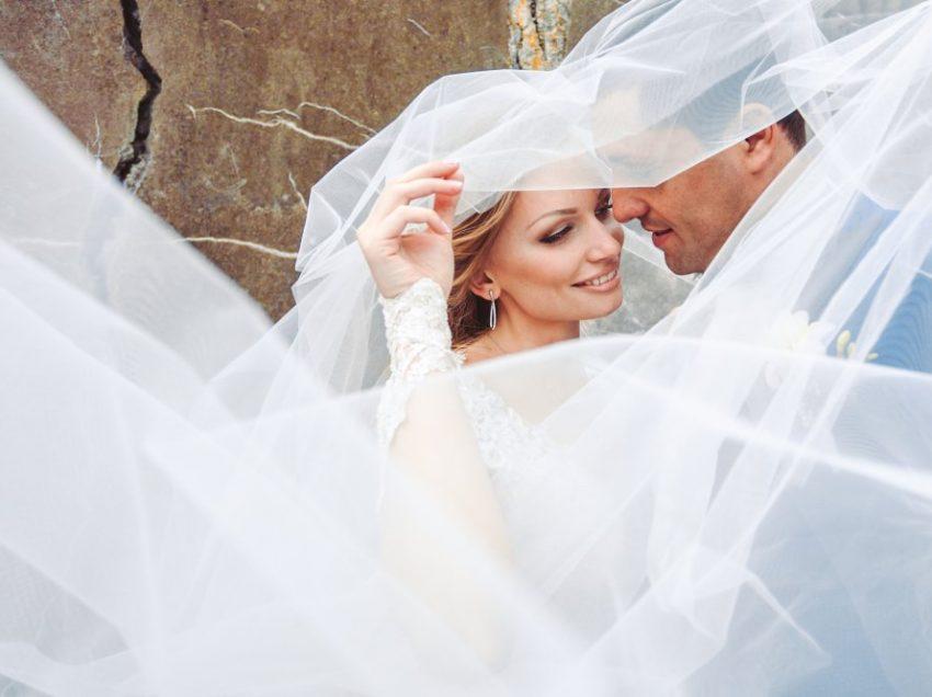 Свадебная церемония с фатой