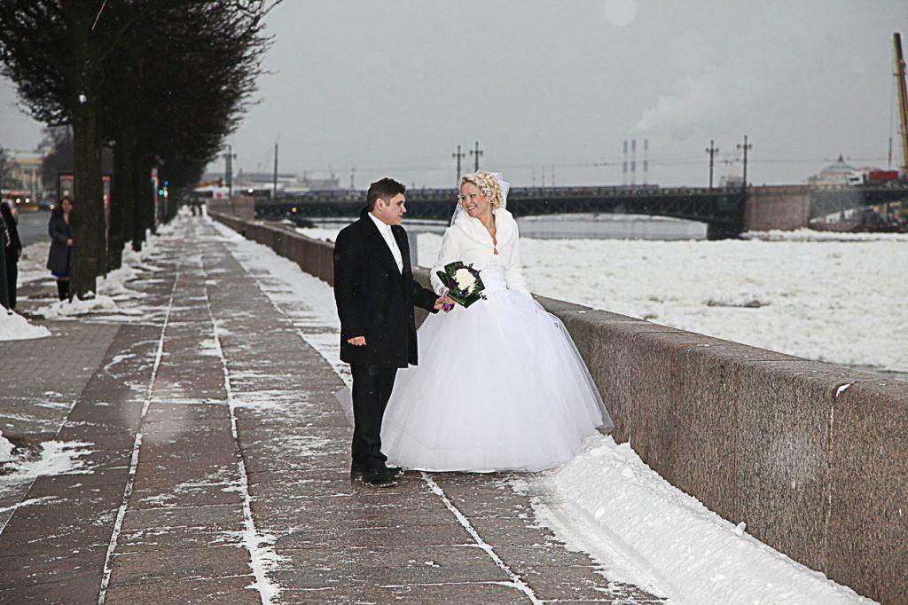 свадебные фотосессии в питере зимой вне земной