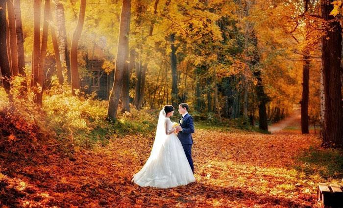 Свадьба осенью: нюансы по месяцам