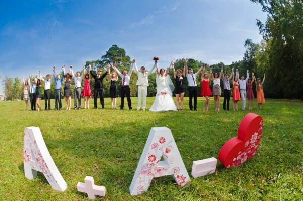 Дата свадьбы из картона
