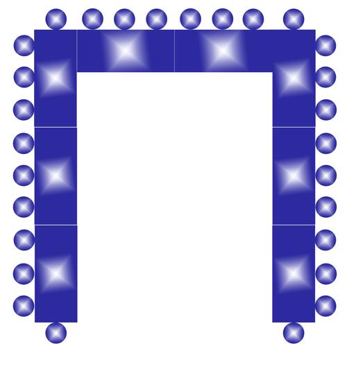 Схема размещения круглых
