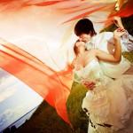 Искромётная оранжевая свадьба — феерия и радость