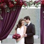 Свадьба в бордовом — глубина, роскошь и сдержанность