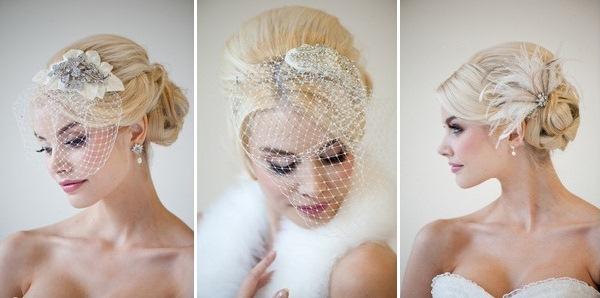 Прически на свадьбу с шляпками
